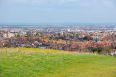 Överblick av eastbourne, östliga sussex, England, UK royaltyfria foton