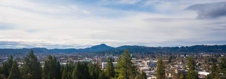 Överblick av Eugene Oregon Arkivbilder