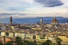 Överblick av Florence Arkivbilder