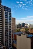 Överblick av Haymarket lägenheter Fotografering för Bildbyråer