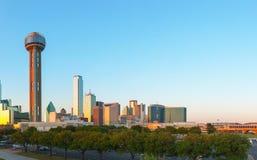 Överblick av i stadens centrum Dallas fotografering för bildbyråer