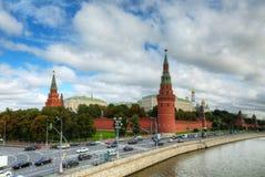 Överblick av i stadens centrum Moscow Fotografering för Bildbyråer