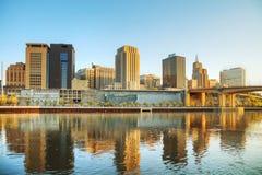 Överblick av i stadens centrum St Paul, MN royaltyfria foton