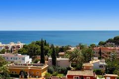 Överblick av Palma Nova i Mallorca Arkivbilder
