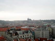 Överblick av Prague, Tjeckien Fotografering för Bildbyråer