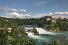 Överblick av Rhinefall royaltyfria foton