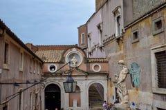 Överblick av Sant 'Angelo Castle Italy royaltyfria foton