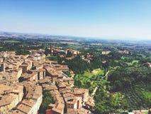 Överblick av Siena royaltyfri fotografi