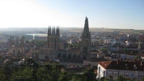 Överblick av staden av Burgos, Spanien Fotografering för Bildbyråer