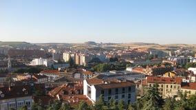 Överblick av staden av Burgos, Spanien Arkivfoton