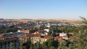 Överblick av staden av Burgos, Spanien Arkivbild