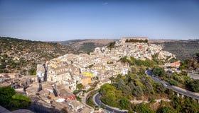 Överblick av staden av Ragusa Royaltyfri Fotografi