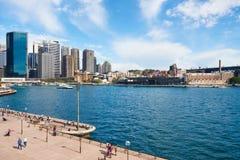 Överblick av Sydney CBD horisont Royaltyfri Fotografi