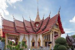 Överblick av Wat Chalong arkivbild