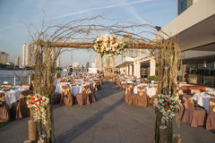 Överblick för bröllopmottagande royaltyfria bilder