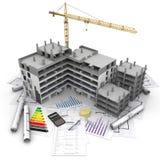 Överblick för konstruktionsprojekt royaltyfri illustrationer