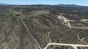 Överblick från Cahuilla Tewanet utsiktpunkt, CA, USA stock video