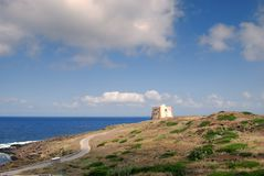 Överblick från Punta Spalmatore Arkivbilder