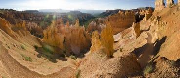 Överblick i den Bryce kanjonen arkivbild