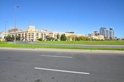 Överblick på olika delar av huvudstaden från sidan av boen arkivbild
