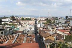 Överblick på staden av Chichicastenango Fotografering för Bildbyråer