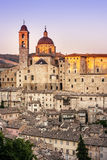 Överblick Urbino Arkivbild
