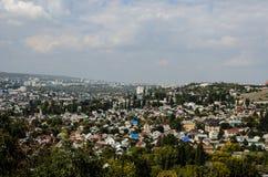 Överblickfoto av staden Royaltyfri Fotografi