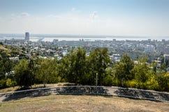 Överblickfoto av staden Arkivfoto