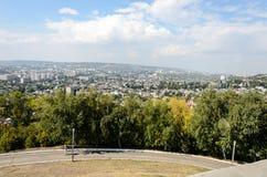 Överblickfoto av staden Arkivbilder
