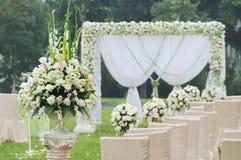 överblickmottagandebröllop Royaltyfria Bilder