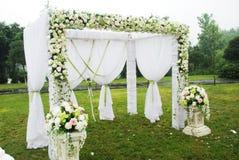 överblickmottagandebröllop royaltyfria foton