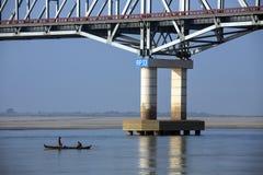 Irrawaddy flod - Myanmar Royaltyfria Bilder