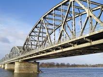 Överbrygga över floden Vistula Royaltyfri Fotografi