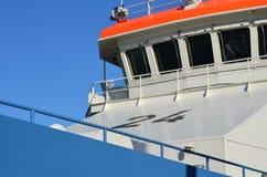 Överbrygga av en ship Arkivfoto