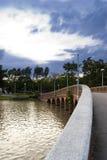 Överbrygga i en parkera i centralen Bangkok, Thailand Arkivbilder