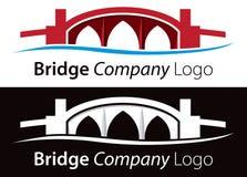 Överbrygga logoen stock illustrationer