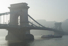 Överbrygga Szechenyi Budapest Royaltyfri Fotografi