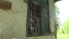 Överbryggat glas på fönster stock video