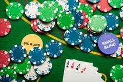 överdängare fyra i pokerlek Royaltyfri Bild