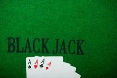 överdängare fyra i pokerlek Royaltyfri Fotografi