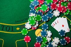 överdängare fyra i pokerlek Royaltyfri Foto