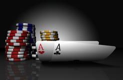 överdängarechiper parar poker Royaltyfria Foton