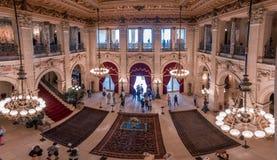 Överdådiga hus i Amerika säkerhetsbrytareherrgård Royaltyfri Fotografi