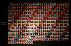Överdriven konstkalender royaltyfria foton