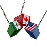Överenskommelse för Förenta staternaMexico Kanada handel stock illustrationer