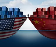 Överenskommelse för Kina Förenta staternahandel royaltyfri illustrationer