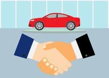 Överenskommelse på bilköp vektor illustrationer