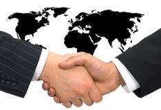 överenskommelseaffär Arkivbild