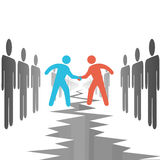 överenskommelseavtalsfolket sätter sidor Arkivbild