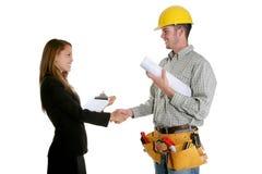 överenskommelsekonstruktion Fotografering för Bildbyråer